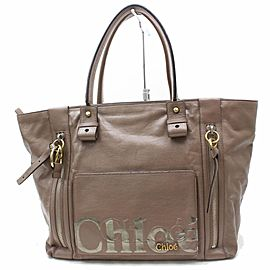 Chloé Chloé Large Zip Shopper Tote 869608 Brown Leather Shoulder Bag
