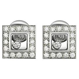 Chopard 18K White Gold Happy Diamond Earrings