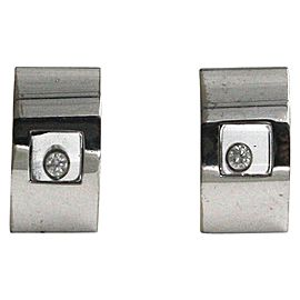 Chopard 18K White Gold Happy Diamond Earrings 843335