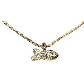 Chopard 79/4702-0 18K Yellow Gold Happy Fish Diamond Necklace