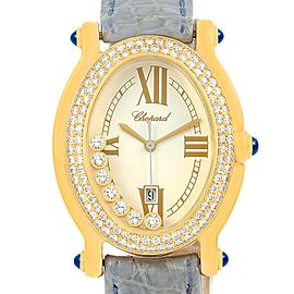 Chopard Happy 27/7012-23 18K Yellow Gold 30mm Womens Watch