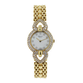 Chopard Classic 18K Yellow Gold with Mother of Pearl Dial 24mm Womens Watch