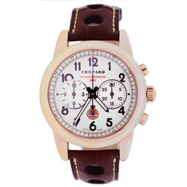 Chopard Grand Prix Historique 18K Rose Gold & Leather Automatic 40mm Mens Watch