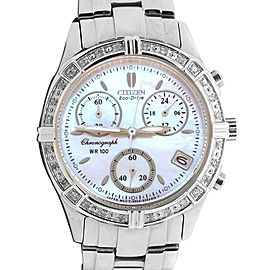 Citizen Eco Drive WR 100 Chronogrpah Diamond Bezel Watch