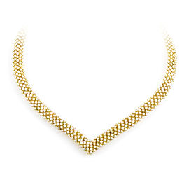 Citra 18K Yellow Gold Full Diamond Pave Collar Necklace