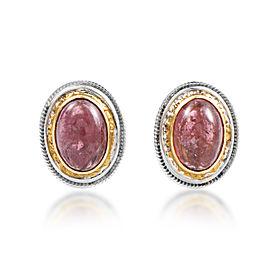 Citra 18K Multi-Tone Gold Pink Tourmaline Huggie Earrings