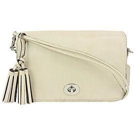 Coach Cream Leather Fringe Tassel Legacy Crossbody Bag 192coa712