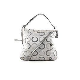 Coach Grey Monogram Madison Isabelle 2way Hobo Bag with Strap 406coa226