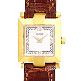 Concord La Scala 0308141 18K Yellow Gold 20mm Strap Watch