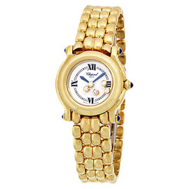 Chopard Happy Sport 27/6150-23 18K Yellow Gold Quartz 26mm Womens Watch