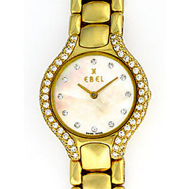 "Ebel ""Beluga"" 18K Yellow Gold Diamond Womens Watch"