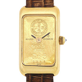 Corum Gold Ingot 18K Yellow Gold Womens Watch