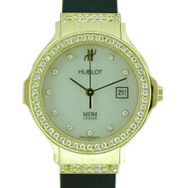 Hublot 18K Yellow Gold Rubber Strap Watch