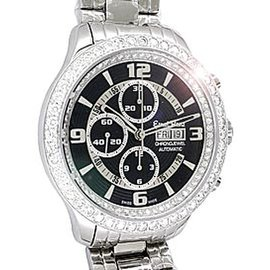 "Ernst Benz Diamond ""Chronojewel"" Chronograph Stainless Steel Mens Watch"