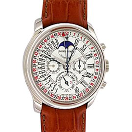 "Roger Dubuis ""Hommage"" Perpetual Calendar Retrograde Chronograph 18K White Gold Mens Watch"