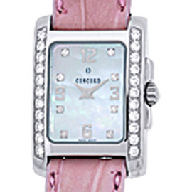 Concord Sportivo Stainless Steel Mother of Pearl and Diamond 21mm Watch