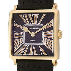 "Roger Dubuis ""Golden Square"" 18K Rose Gold Strapwatch"