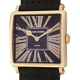"Roger Dubuis ""Golden Square"" 18K Rose Gold Strapwatch"