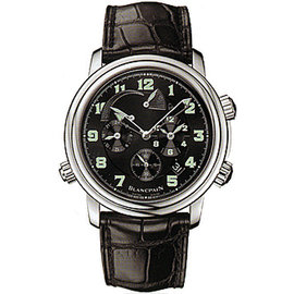 "BlancPain ""Leman Reveil GMT Alarm"" Stainless Steel Mens Watch"