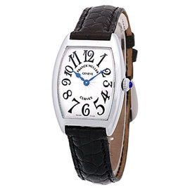 "Franck Muller ""Cintree Curvex"" Stainless Steel Strapwatch"