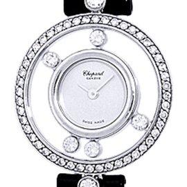 "Chopard ""Happy Diamond"" 18K White Gold Dress Watch"