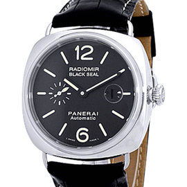 "Panerai ""Radiomir Black Seal"" Stainless Steel Strap Watch"