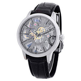 "Maurice LaCroix ""Masterpiece Skeleton"" Stainless Steel Strap Watch"
