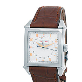 "Girard Perregaux ""Vintage 1945 XL"" Triple Calendar Stainless Steel Strap Watch"