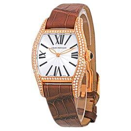 "Girard Perregaux ""Diamond Richeville"" 18K Rose Gold Watch"