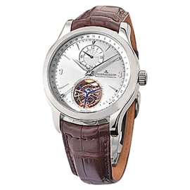 """Jaeger LeCoultre """"Master Control Tourbillon"""" Stainless Steel Mens Strap Watch"""