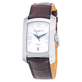 "Baume & Mercier ""Hampton Milleis XL"" Stainless Steel Strap Mens Watch"