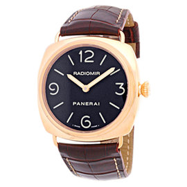 Panerai Radiomir 18K Rose Gold Strap Mens Watch