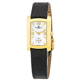 "Baume & Mercier ""Hampton Milleis"" 18K Yellow Gold Womens Strap Watch"