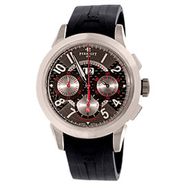 Perrelet TI Collection Big Date Chronograph Titanium Mens Strap Watch