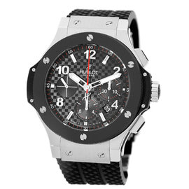 "Hublot ""Big Bang"" Chronograph Stainless Steel & Ceramic Mens Watch"