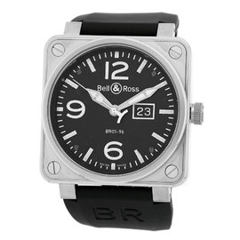 "Bell & Ross ""BR 01-96"" Stainless Steel Big Date Strap Watch"