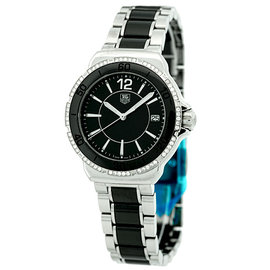 Tag Heuer Formula 1 WAH1212.BA0859 Stainless Steel & Black Ceramic 37mm Womens Watch