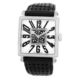 "Roger Dubuis ""Golden Square"" Diamond 18K White Gold Strapwatch"