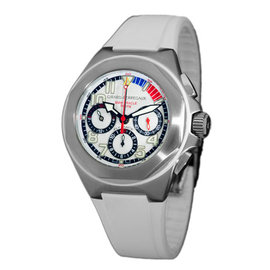 """Girard Perregaux """"Laureato BMW Oracle Racing USA 98"""" Stainless Steel Chronograph Watch"""