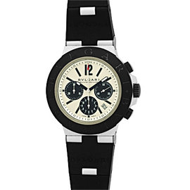 Bulgari Diagono Chronograph Aluminum Strap Mens Watch