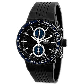 "Oris ""Williams F1 Team"" Chronograph Black PVD Stainless Steel Strapwatch"