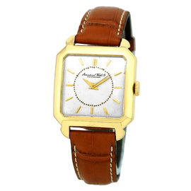 IWC Tank 18K Yellow Gold & Leather Automatic Vintage 32mm Mens Watch