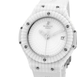 "Hublot ""Big Bang Caviar"" Large White Ceramic & Titanium Strapwatch Womens Watch"