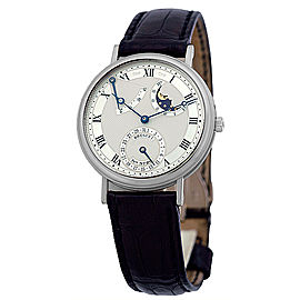 Breguet Classique Power Reserve Moon 18K White Gold Mens Strap Watch