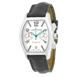 "Ulysse Nardin ""Michelangelo"" Chronograph Stainless Steel Mens Watch"