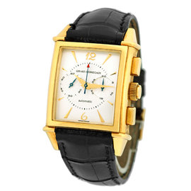 "Girard Perregaux ""Vintage 1945 Chronograph"" 18K Yellow Gold Watch"