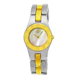 "Baume & Mercier ""Linea"" Stainless Steel & 18K Yellow Gold Quartz 24mm Womens Watch"
