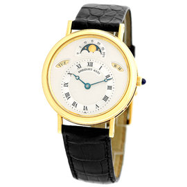 "Breguet ""Classique Calendar Moonphase"" 18K Yellow Gold Mens Strap Watch"