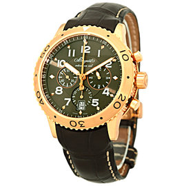 Breguet Transatlantique Type XXI Flyback Chronograph 18K Rose Gold Mens Watch