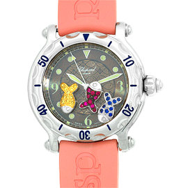 "Chopard ""Happy Beach"" Stainless Steel Strap Watch"